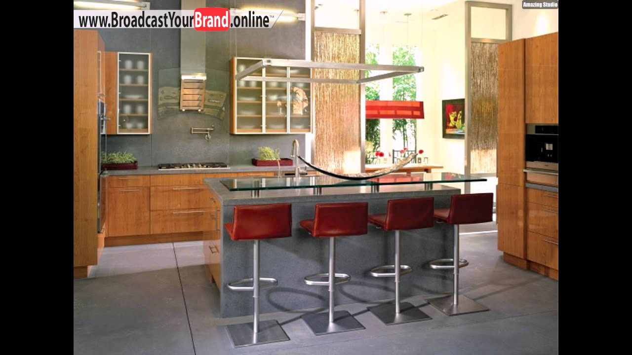 rote hocker ideen designer k cheninsel glas youtube. Black Bedroom Furniture Sets. Home Design Ideas