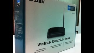 D-Link N150 ADSL2+ Wireless Modem Router Unboxing (INDIA)