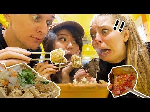 Americans Try Taiwan Stinky Tofu 3 WAYS