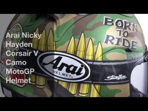 Arai Nicky Hayden Corsair V Camo MotoGP Helmet