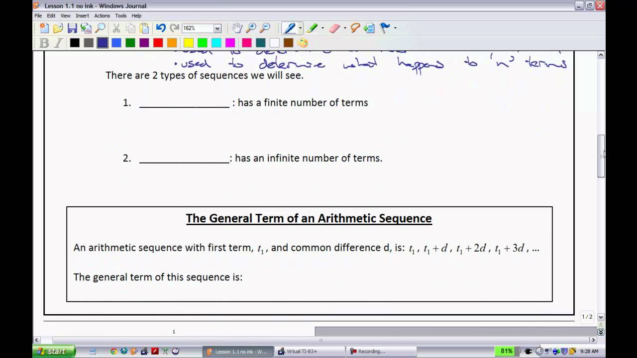 Pre-Calc 11 - Lesson 1 1 (Part 1)