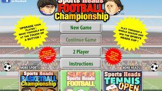 Sports Heads Football Championship Full Gameplay Walkthrough