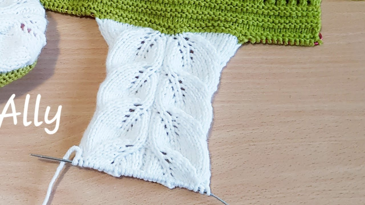 Modele ajurate tricotate manual