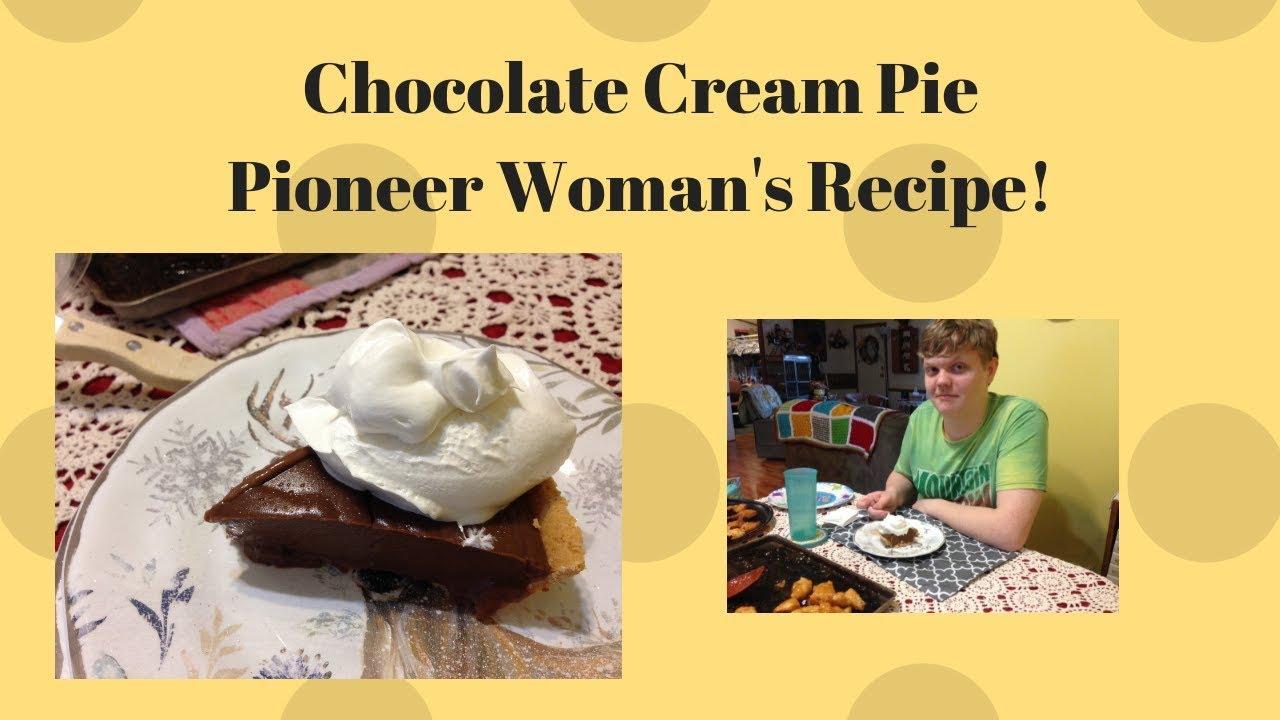 Chocolate Cream Pie A Pioneer Woman Recipe Youtube