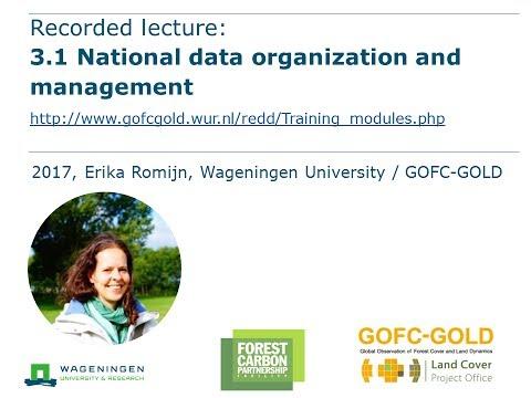 Module 3.1 National data organization and management