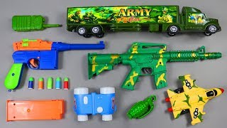 Army Military Guns Toy & Vehicles Cars Toys  Realistic Toys Collection Video