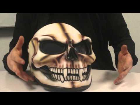 The Skull flip front motorcycle helmet (how not to get petrol) the helmet every idiot should buy