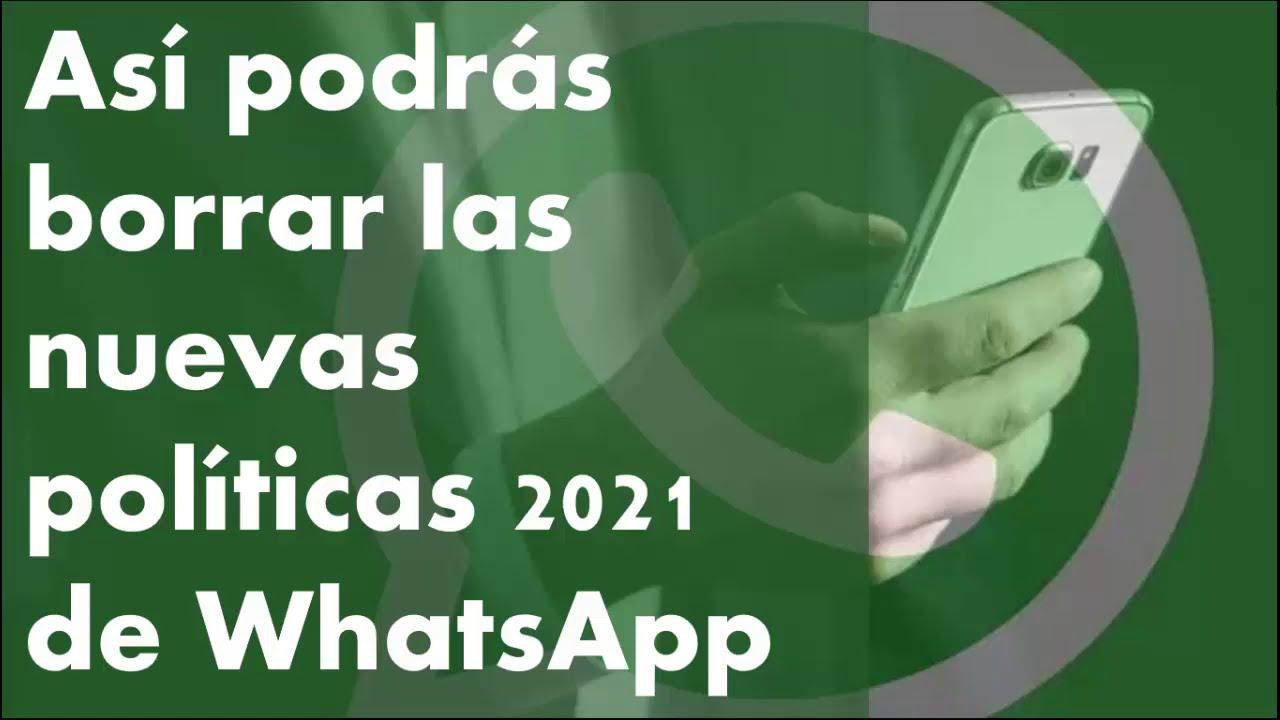 Así podrás borrar Nuevas Políticas de WhatsApp si las Aceptaste, Si no has aceptado aun, NO LO HAGAS