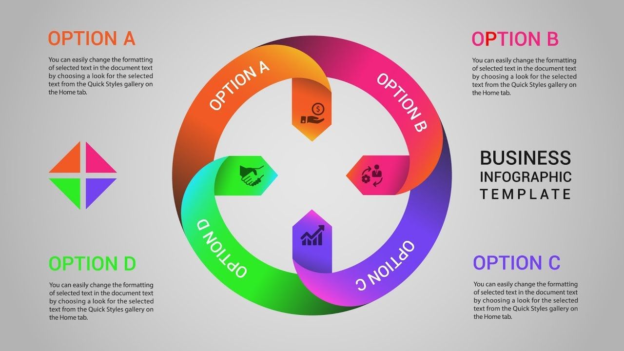 Circular Business Infographics Design Templates Illustrator Tutorials
