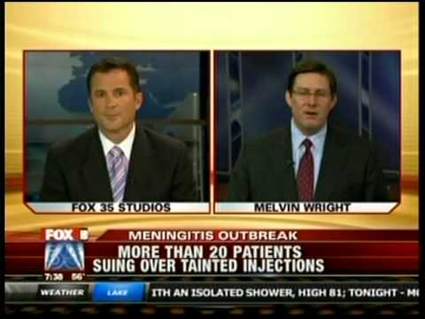 Melvin Wright of The Florida Firm is interviewed on WOFL about Ameridose recalling its products after the meningitis outbreak