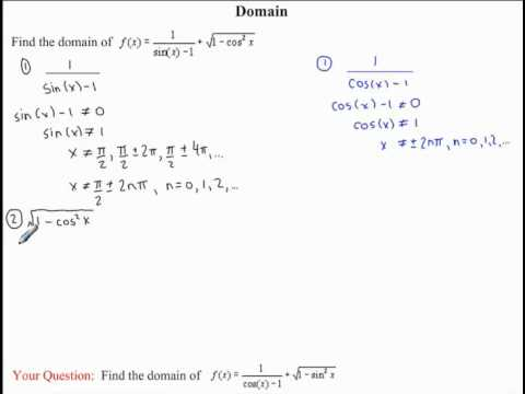 Domain and Range of Trigonometric Functions | nool