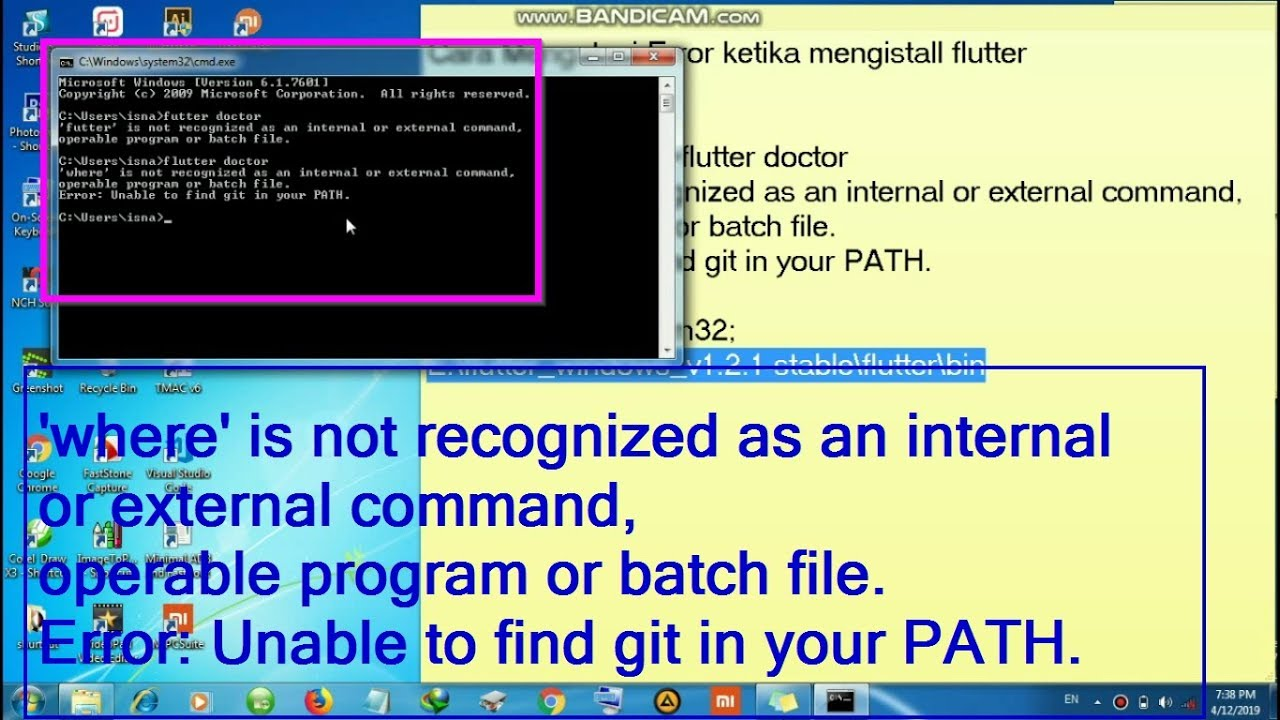 Cara Mengatasi Error Install Flutter Unable to find git in your PATH