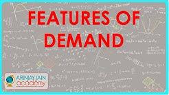 Demand - Features of Demand