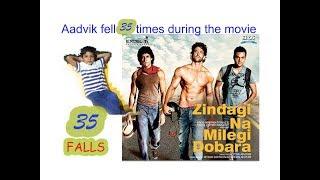 5 yr old fell 35 times during movie zindagi na milegi dobara