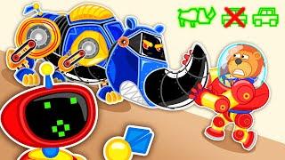 Lion Family 🚒 Iron Robot #19. Super Truck - Rescue Team   Cartoon for Kids