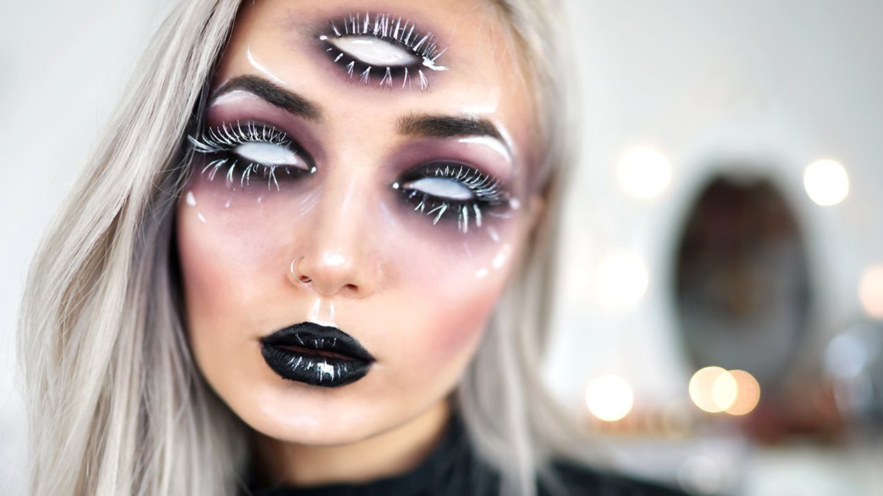Image result for trippy halloween makeup