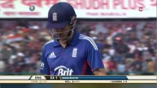 India - England 5th ODI - Fall of Wickets - England Inning
