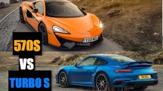 2017 Porsche 911 Turbo S vs McLaren 570S - Inside Lane