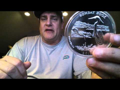 Unboxing Bombay Hook and Glacier National Park 5 oz America The Beautiful Coins