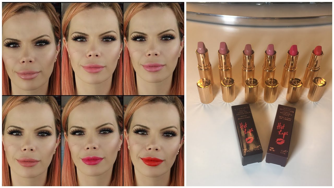 New Charlotte Tilbury Hot Lips Review W 6 Shades