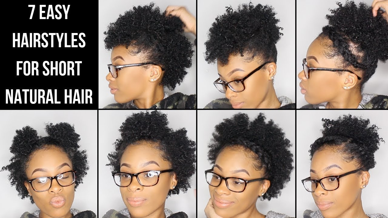7 Easy Hairstyles For Short Natural Hair Youtube