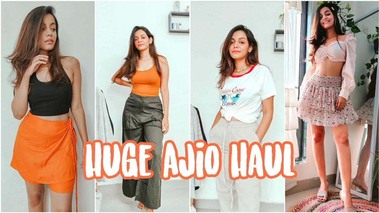 Huge Ajio Haul UNDER 500 | Ajio Tops, Pants, Skirt Try On Haul 2020