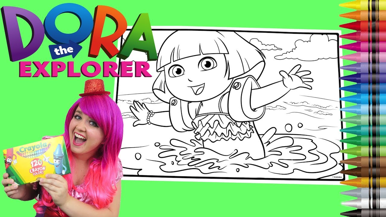 coloring dora the explorer giant coloring book page crayola crayons kimmi the clown - Giant Coloring Book