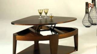 Oasis Wedge Lift-top Cocktail Table T2003403-00 By Hammary Furniture