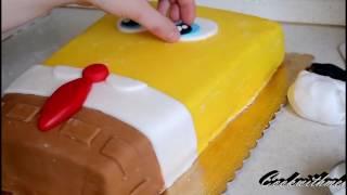 як зробити губку бобу з мастики