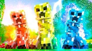 Minecraft: CREEPERS ELEMENTAIS! (100 Desafios)