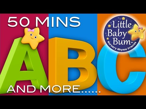 ABC Song  ABC Songs Plus Lots More Nursery Rhymes!  50 Minutes Compilation from LittleBaBum!