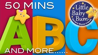 ABC Song | ABC Songs Plus Lots More Nursery Rhymes! | 50 Minutes Compilation from LittleBabyBum!