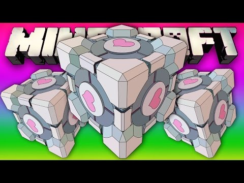 MINECRAFT COMPANION CUBE LOVE! (Minecraft Modded Cops and Robbers!)