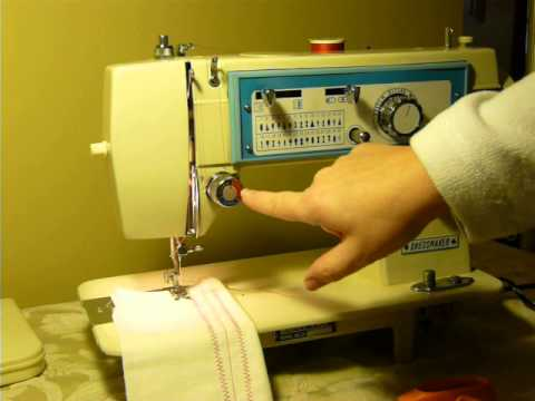 NIFTYTHRIFTYGIRL Vintage Dressmaker Model 40 Sewing Machine YouTube Amazing How To Thread The Bobbin On A Dressmaker Sewing Machine