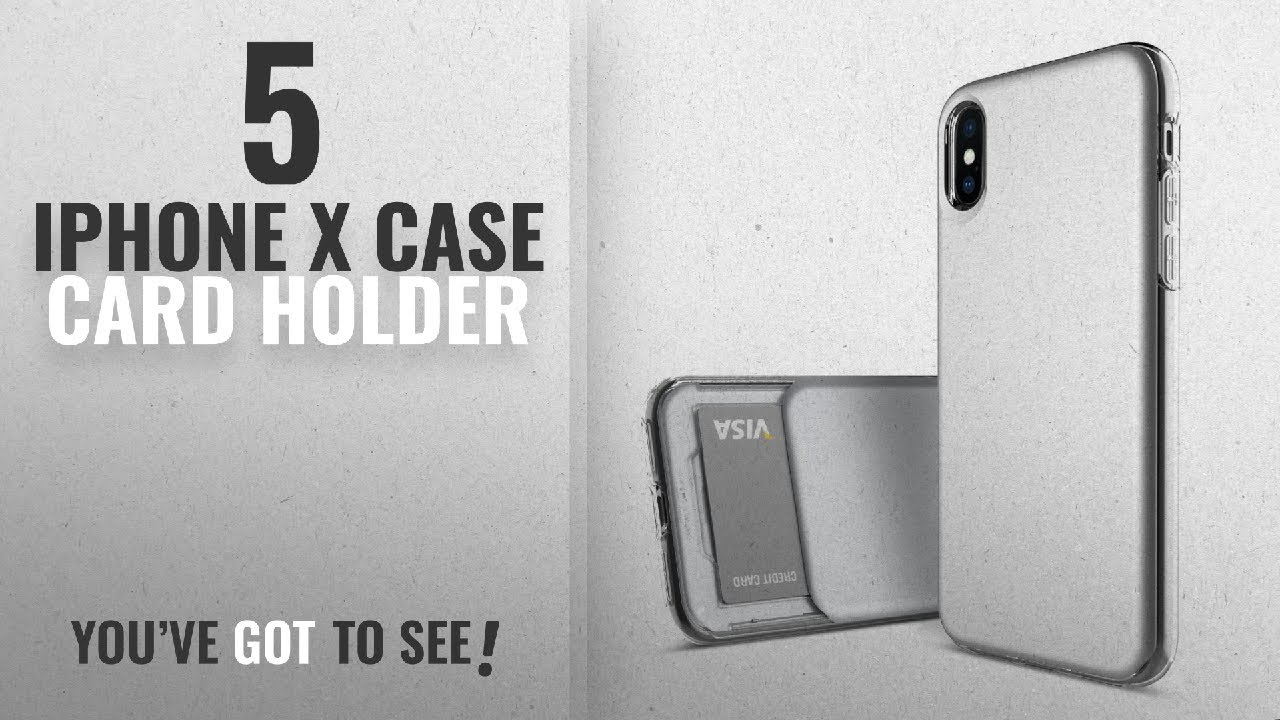 cheap for discount 7f860 4a15f Top 5 IPhone X Case Card Holder [2018 Best Sellers]: iPhone X Case,  DesignSkin [SLIDER SLIM]