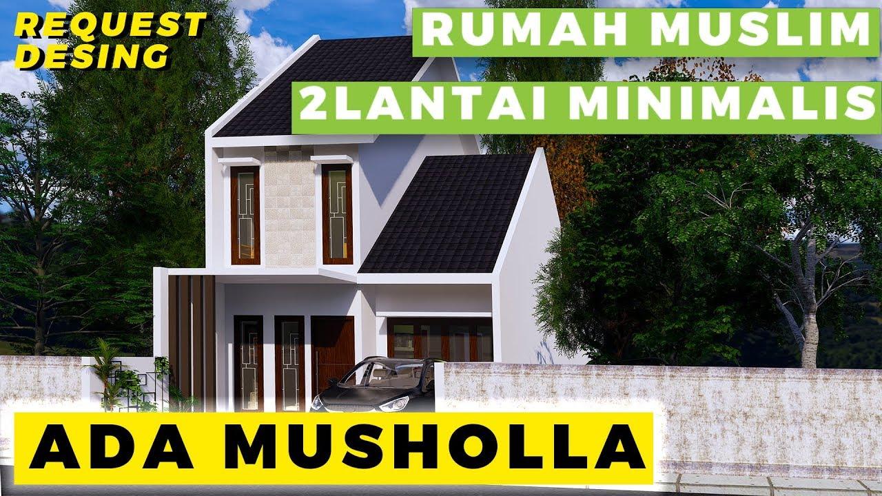 Desain Rumah Muslim 2 Lantai Minimalis Modern Youtube