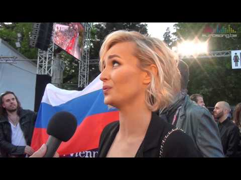 Interview Polina Gagarina on the red carpet in Vienna - Russia Eurovision 2015