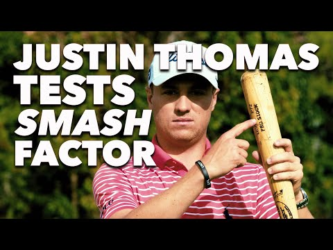 Justin Thomas Crushes a 250 Yard Drive With a Mini Golf Putter | Smash Factor | Golf Digest