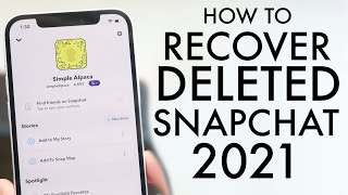 How To Recover Deleted Snapchat Photos / Videos / Messages! (2021)