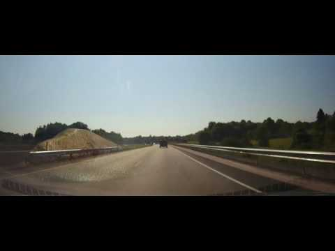 Driving on Interstate 80 from Ohio to Eastern Pennsylvania