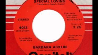 BARBARA ACKLIN  Special Loving
