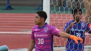 超攻撃型GK・FC東京U-23廣末陸選手のFC琉球戦でのプレー.