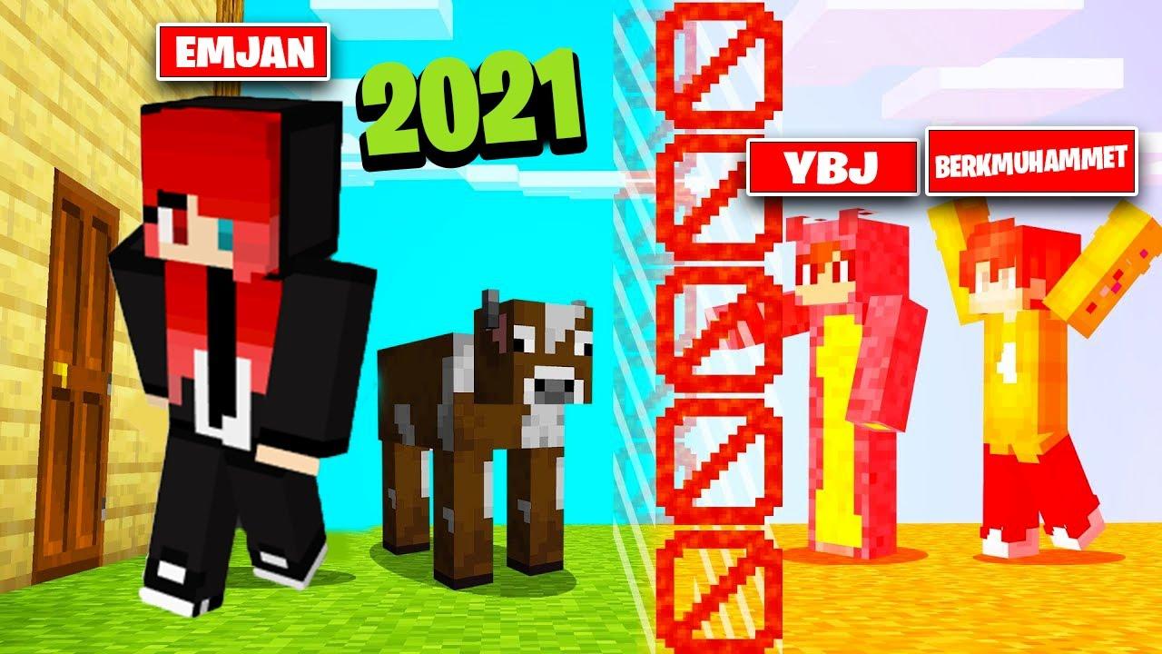 YENİ EVİM ! *yıllar sonra Minecraft serisi* - LAZ & YBJ & VALES & BERK MUHAMMET