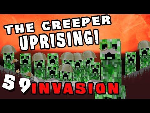 Minecraft: Invasion - #59 - The Creeper Uprising (Modded Minecraft)