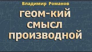 ПРОИЗВОДНАЯ ФУНКЦИИ и ее геометрический смысл 10 11 класс