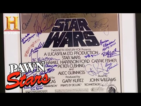 Pawn Stars: Star Wars Topps Set, Poster, And Death Star Model | History