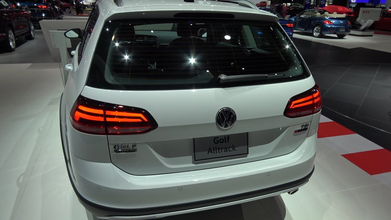 2018 vw golf alltrack wagon at new york auto show youtube. Black Bedroom Furniture Sets. Home Design Ideas
