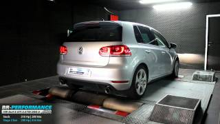 Reprogrammation moteur VW Golf 6 GTI 2.0 TSI 211hp @ 280hp (Stage 2) par BR-Performance