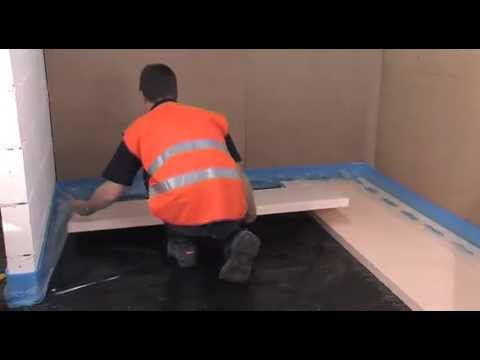 How to install Hep2O pocketed polystyrene system for underfloor heating