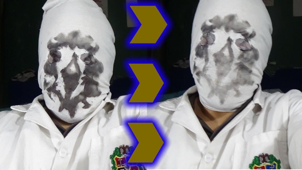 como hacer una mascara de Rorschach que se mueve